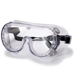 Non-Vented Clear Safety Goggles