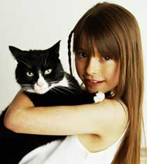 Photo Of A Girl With A Cat - So Cute Unless You Are Allergic