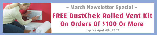 Free DustChek Vent Filtration Kit With Orders Of $100 Or More!