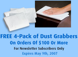 Free 4-Pack Of Dust Grabbers With Orders Of $100 Or More