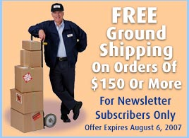 FREE Ground Shipping On Orders $150 Or More