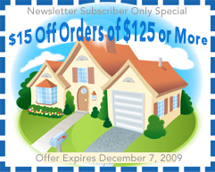 Receive $15 Off Any Order Of $125 Or More Through December 7, 2009