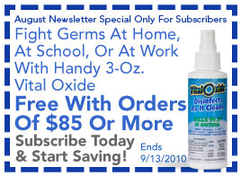 FREE Handy 3-Oz. Vital Oxide With Orders Of $100 Through September 13, 2010 - Click To Subscribe