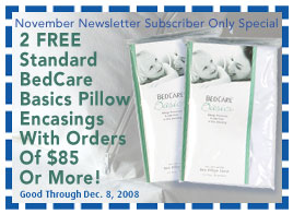 FREE Pair Of BedCare Basics Pillow Encasings With Orders Of $85 Or More