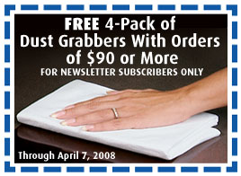 FREE Dust Grabbers 4-Pack With Orders Of $90 Or More