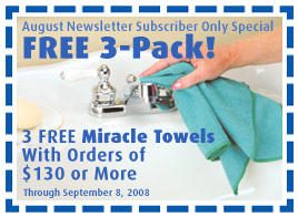 Free 3-Pack Of Miracle Towels With Orders Of $130 Or More