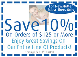 Save 10% On Orders Of $125 Or More