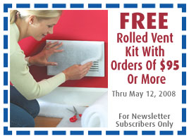 FREE Rolled Vent Filtration Kit With Orders Of $95 Or More