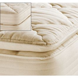 royal pedic natural organic cotton pillow top mattress padstoppers - Organic Cotton Mattress