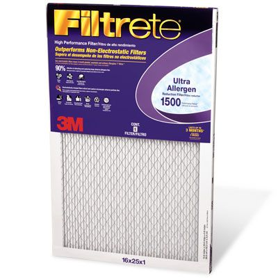 filtrete 1500 ultra allergen filter - furnace filters - replacement ...