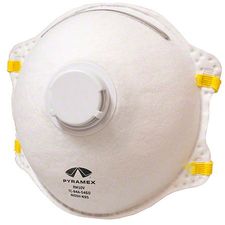 safety works 10-pack n95 exhalation valve mask