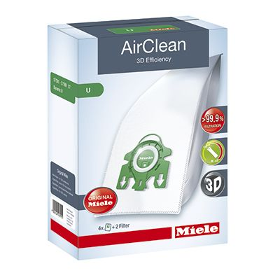 Miele 3D AirClean Vacuum Bags Type U Series Uprights