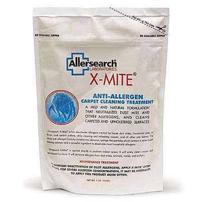 X-Mite Anti-Allergen Carpet Cleaning Treatment 1-lb Bag