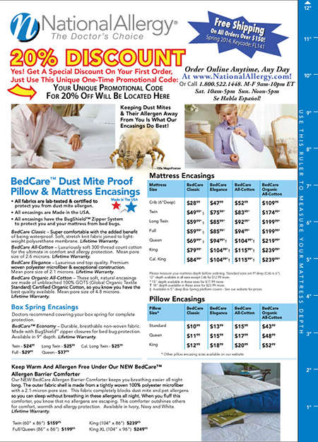 Patient Product Flyers - Asthma/Allergy Relief Products